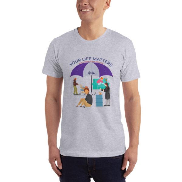 heather grey unisex jersey t-shirt